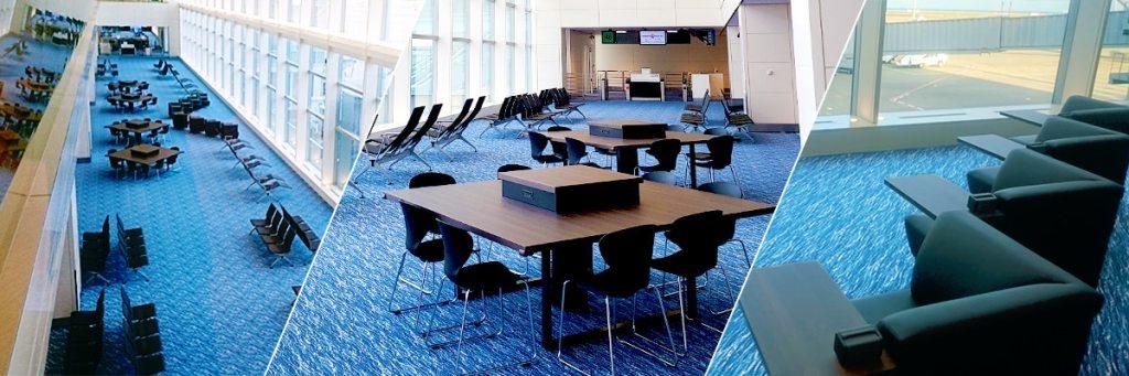 羽田空港国内線ターミナル サテライトの建物内の様子