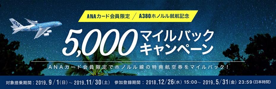 ANAカード限定5000マイルバックキャンペーン