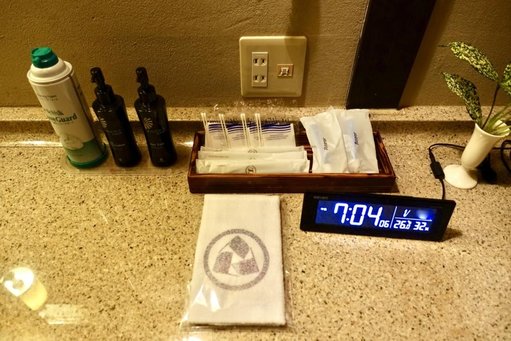 シェラトングランデオーシャンリゾート松泉宮離れ湯の室内アメニティ