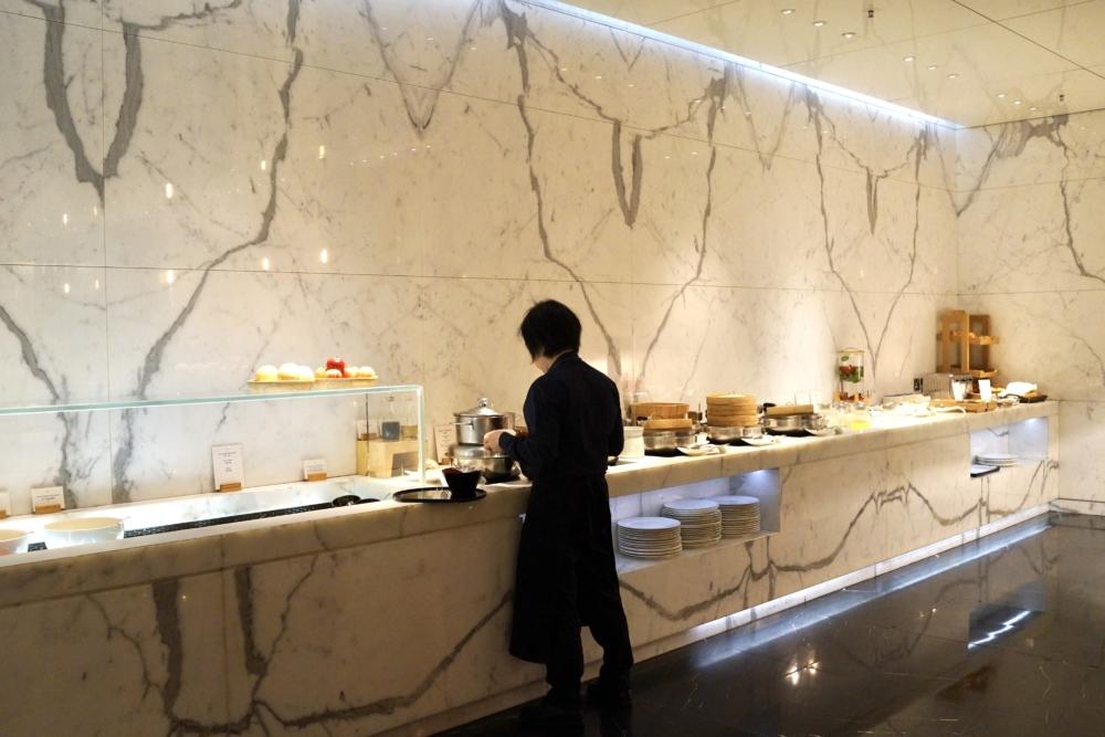 香港国際空港キャセイパシフィック航空ザ・ウィングファーストクラスラウンジのレストラン「ザ・ヘイブン」朝のメニュー