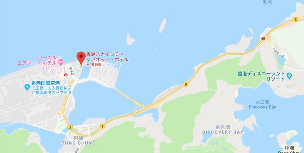 香港スカイシティ・マリオット・ホテルの地図