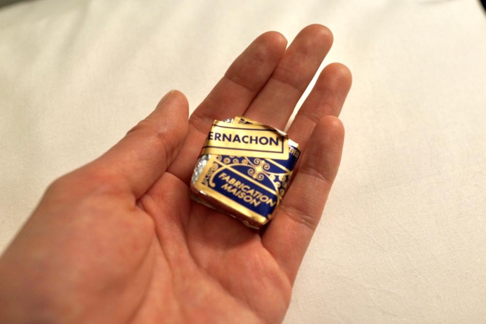 ベルナシオンで買い物をするとおまけのチョコレートがもらえる