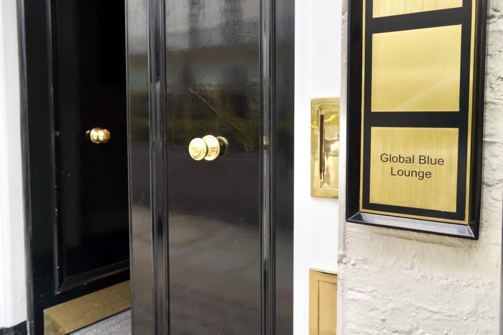ロンドン・Global Blue VIPラウンジのエントランス