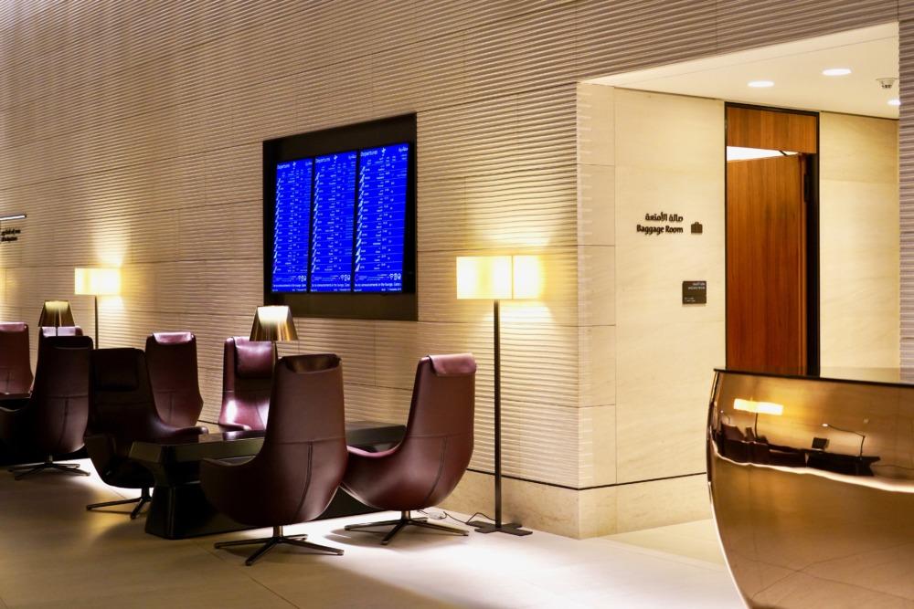 ドーハ・ハマド国際空港カタール航空アル・サファ・ファーストラウンジのバゲージルーム