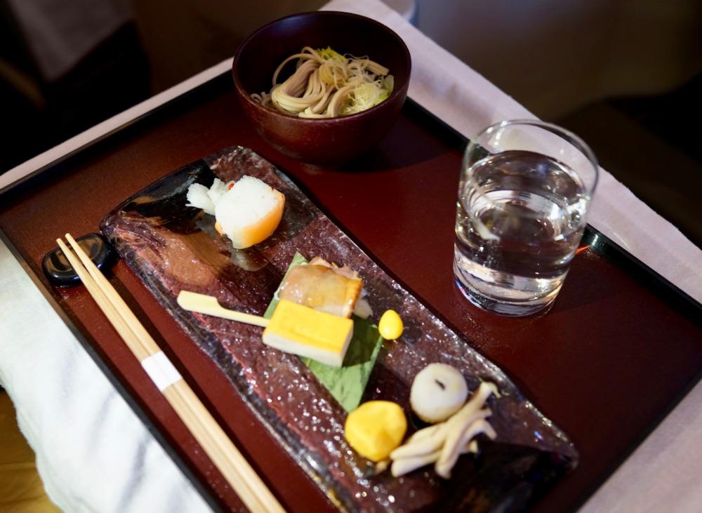 ガルーダインドネシア航空・ビジネスクラス・機内食・和食