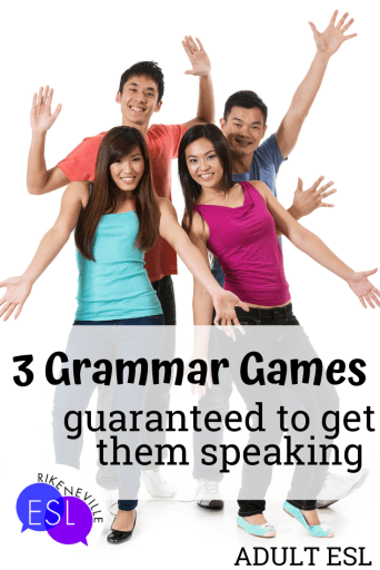 adult esl students react to grammar game