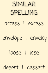 commonly confused words example 2