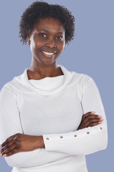 confident woman ready to teach