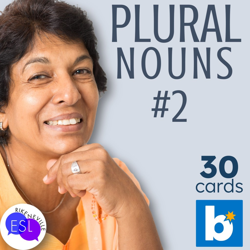 Woman thinks about using this Plural Nouns BOOM deck