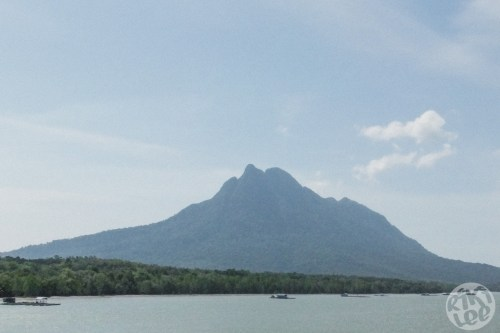 Another view of Mt. Santubong on the journey to Sarawak Cultural Village