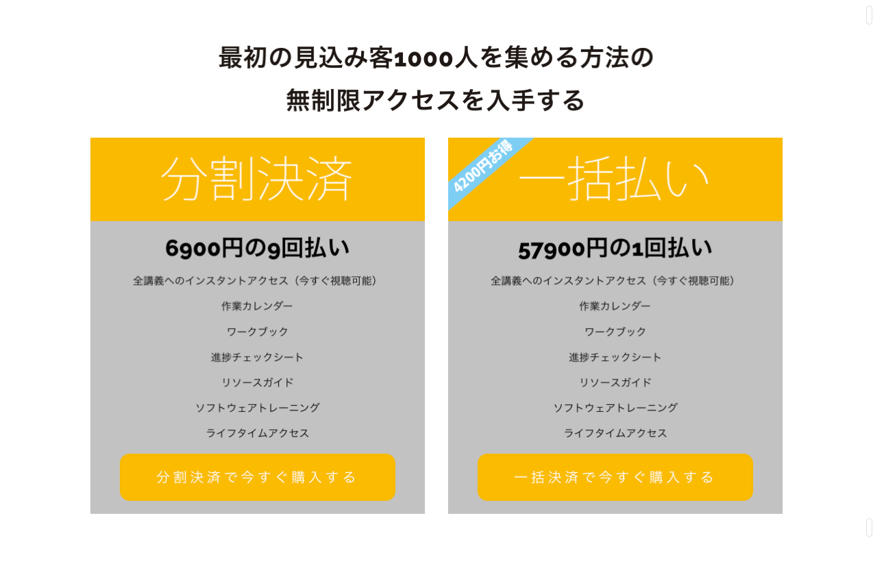 SALESPAGE 最初の見込み客1 000人を集める方法  morefree me