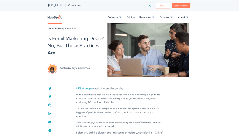 Is Email Marketing Dead No But These Practices Are