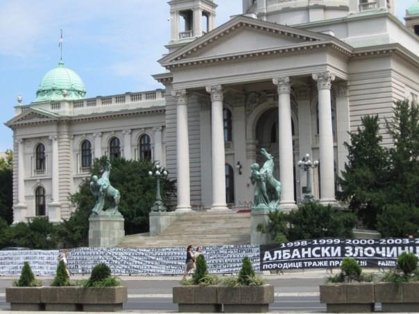 Det serbiske parlament i Beograd