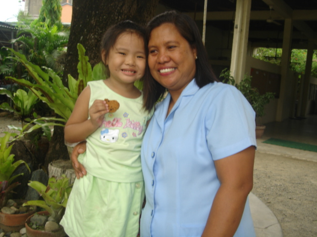 with her first teacher