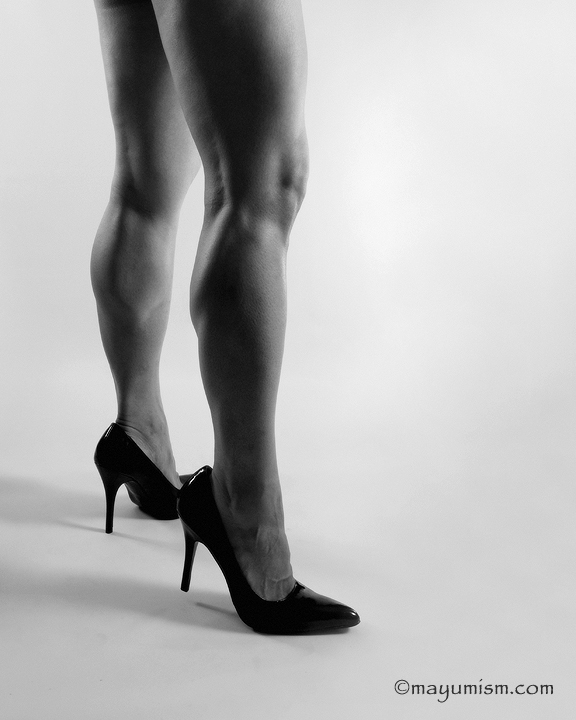 FBB Rikochan in high heel erotica shot