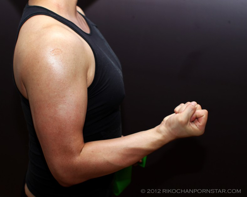 Rikochan's right biceps