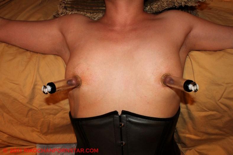 Tiny tits, big pumped nipples