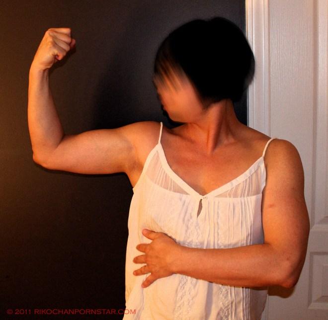 Rikochan's beefy biceps