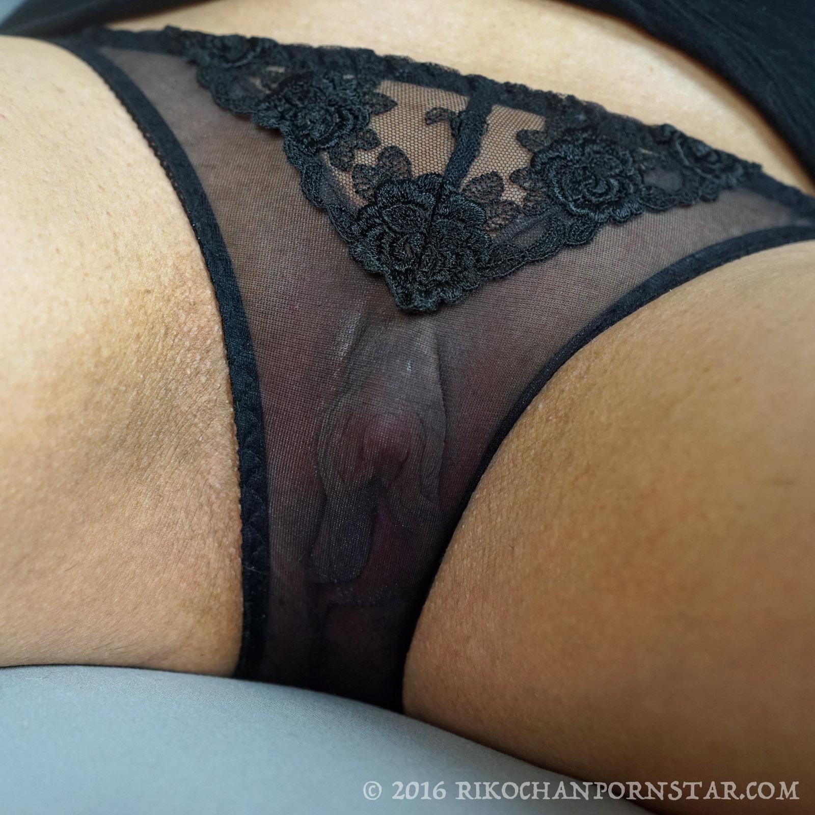 Big clit in panties