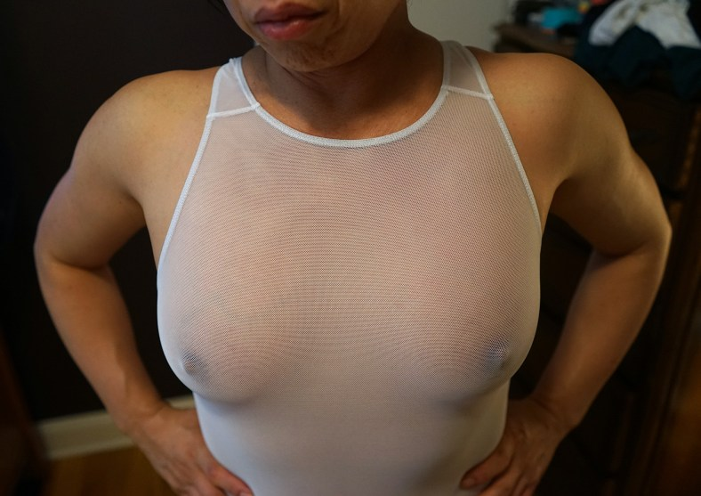 Sex Worker Rikochan's hard nipples
