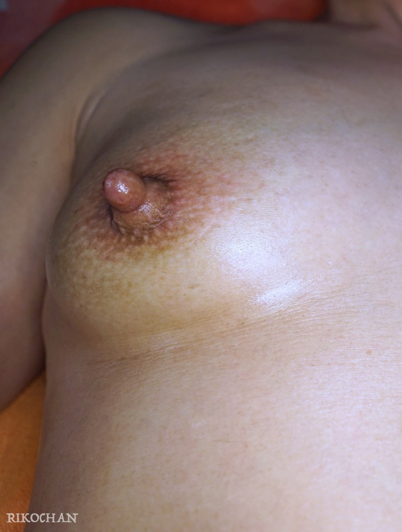 Pumped nipple closeup!
