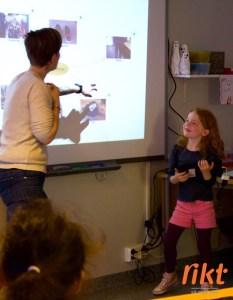 Elevene vokser på å presentere for hverandre