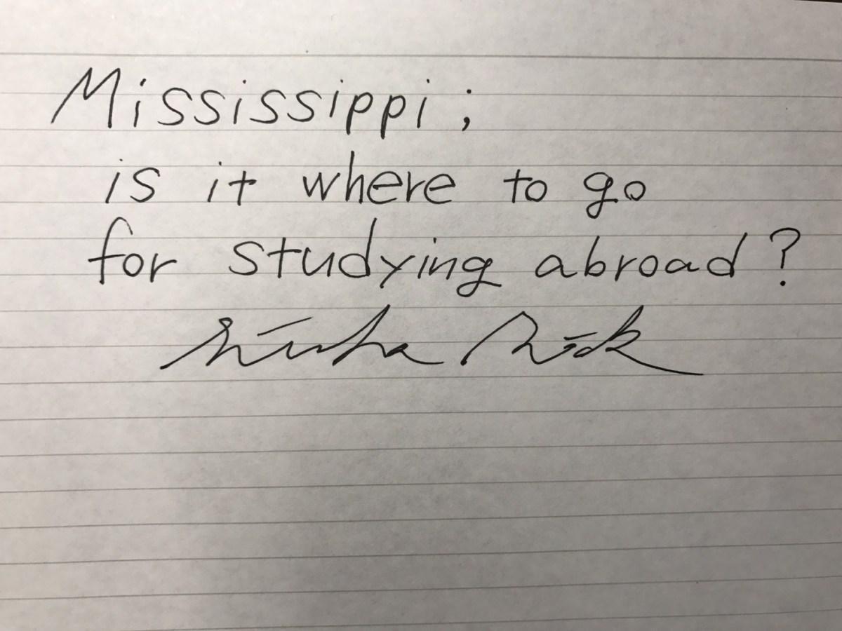 ミシシッピ留学という選択肢。