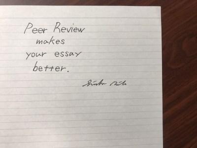Peer Review。