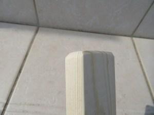 1時間で作れる竹馬 足板の角を丸くする