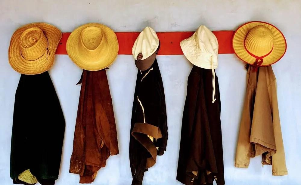 Five Hat Racks