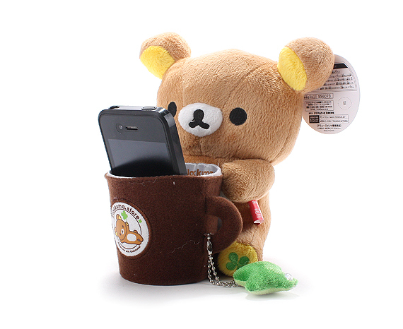 rilakkuma plush toy pen phone holder container 3