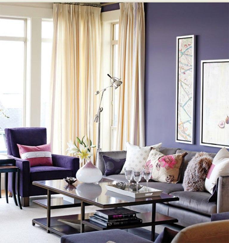 Dark Purple Living Room Ideas Novocom Top