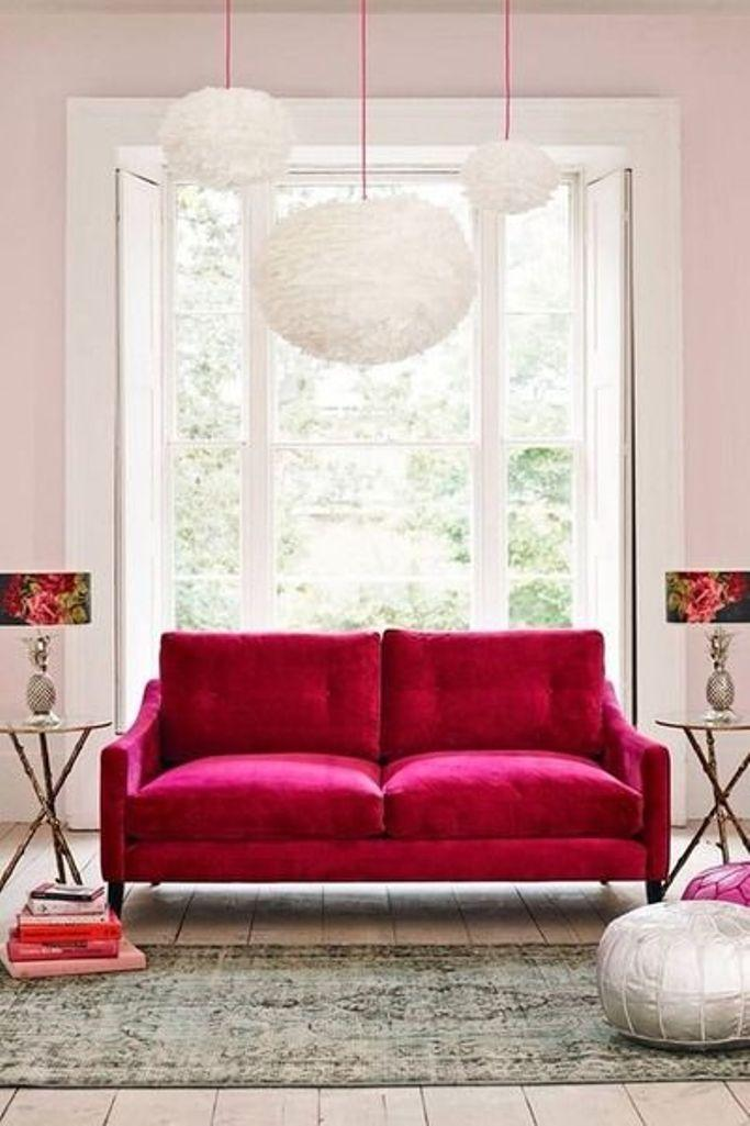 15 Dazzling And Chic Pink Sofa Ideas Rilane