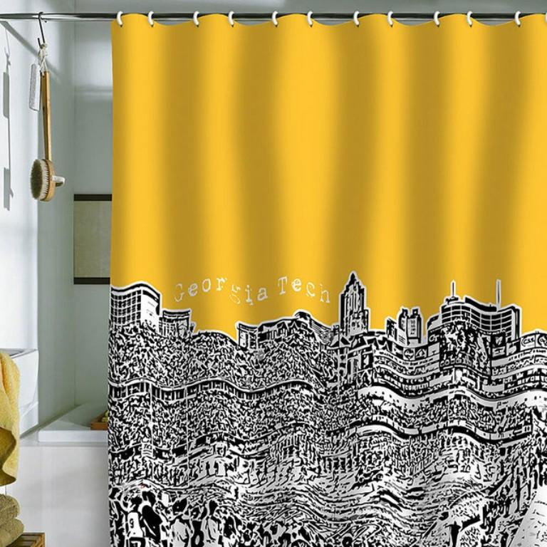 10 Yellow Shower Curtain Designs Rilane