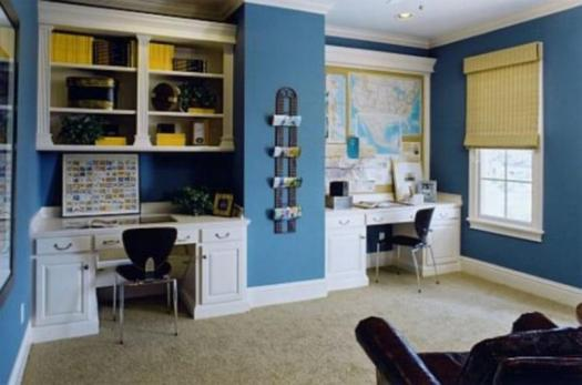Ultra Marine Blue Home Office