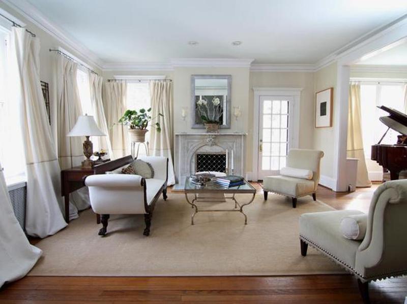 white victorian living room