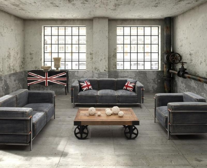 rustic industrial living room ideas