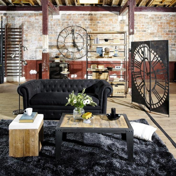 rustic industrial chic living room