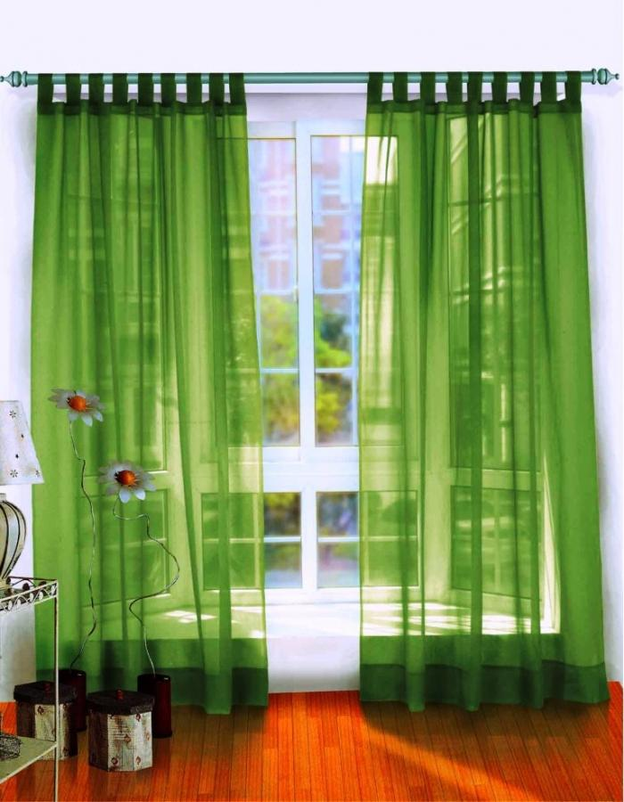15 Delightful Sheer Curtain Designs for the Living Room   Rilane Cool Green Sheer Curtains in White Wooden Window with Laminated Wooden Floor