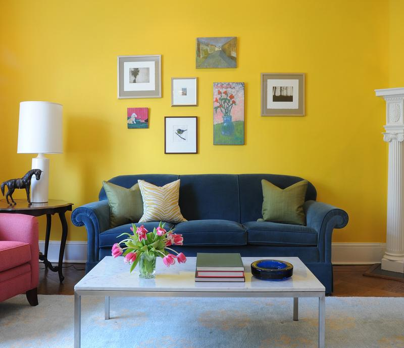 Attractive 20 Charming Blue And Yellow Living Room Design Ideas Rilane Part 22