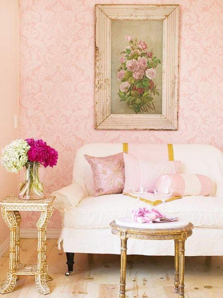 Pink And Grey Living Room Wallpaper | Conceptstructuresllc.com