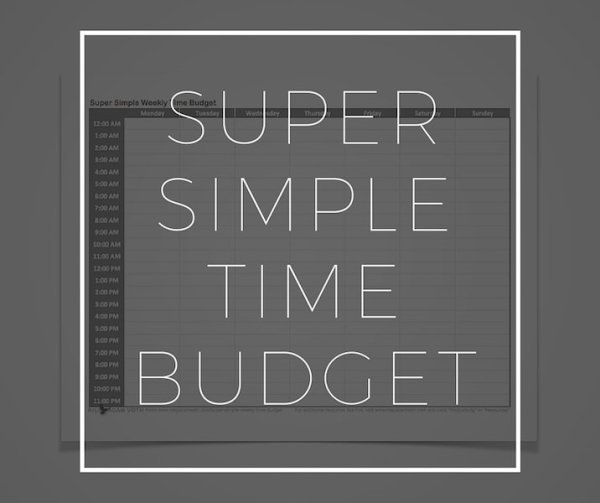Super Simple Time Budget Riley Adam Voth Product