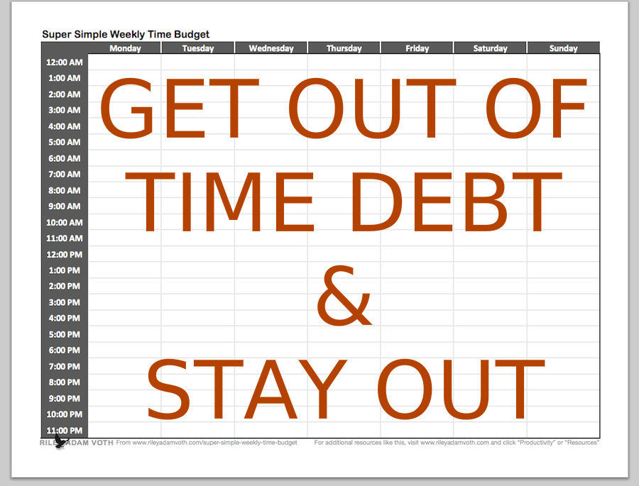 Time Debt Super Simple Weekly Budget Screen Shot Get Out Stay Resource