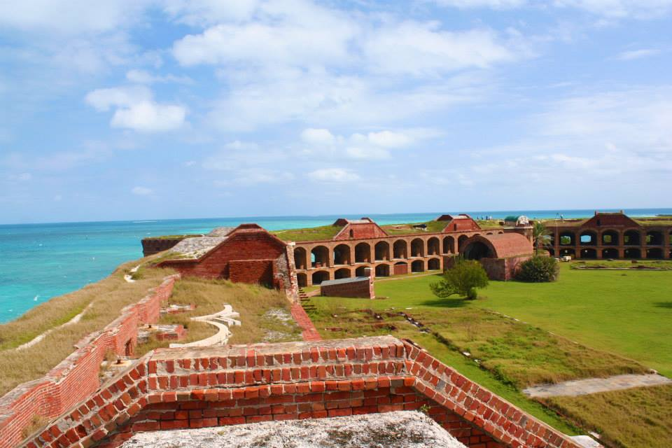 A beautiful ocean view from Fort Jefferson in Dry Tortugas National Park