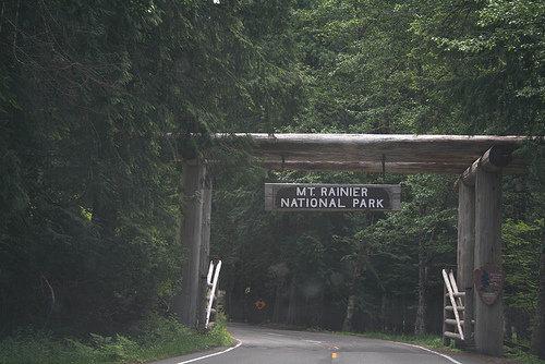 Mount Rainier Welcome Sign