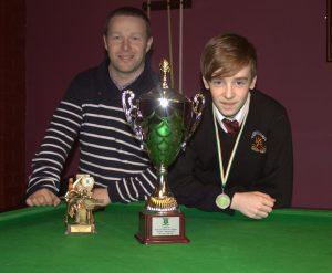 Alan Bailey with Ciaran Sheridan U14 Champion 2014