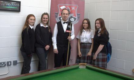 Fergal O'Brien Visits Kildare Town Community School
