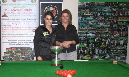 Paula Judge retains the Maureen Butler Cup @ Sharkx Newbridge