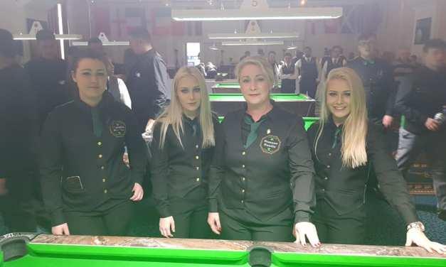 Irish Ladies Pool Team did us proud at the AEBF World Championships in Blackpool