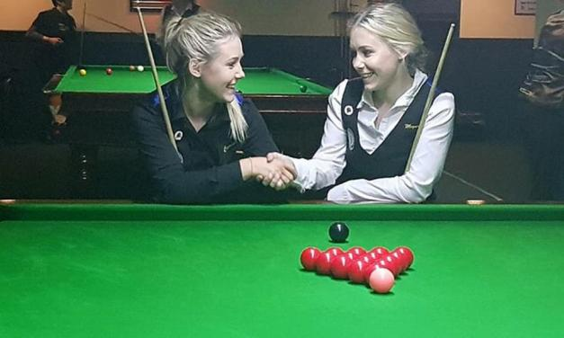 RIGHT ON CUE  Five-foot snooker sensation twins Carrie and Megan Randle BAIZing trail for women in Irish cue sports